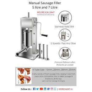 Manual sausage filler 5 litre and 7 litre