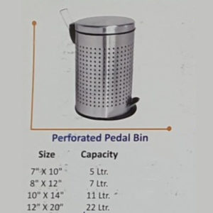 Perforated Pedal Bin