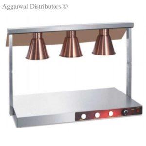 food warmer glass 3lamp