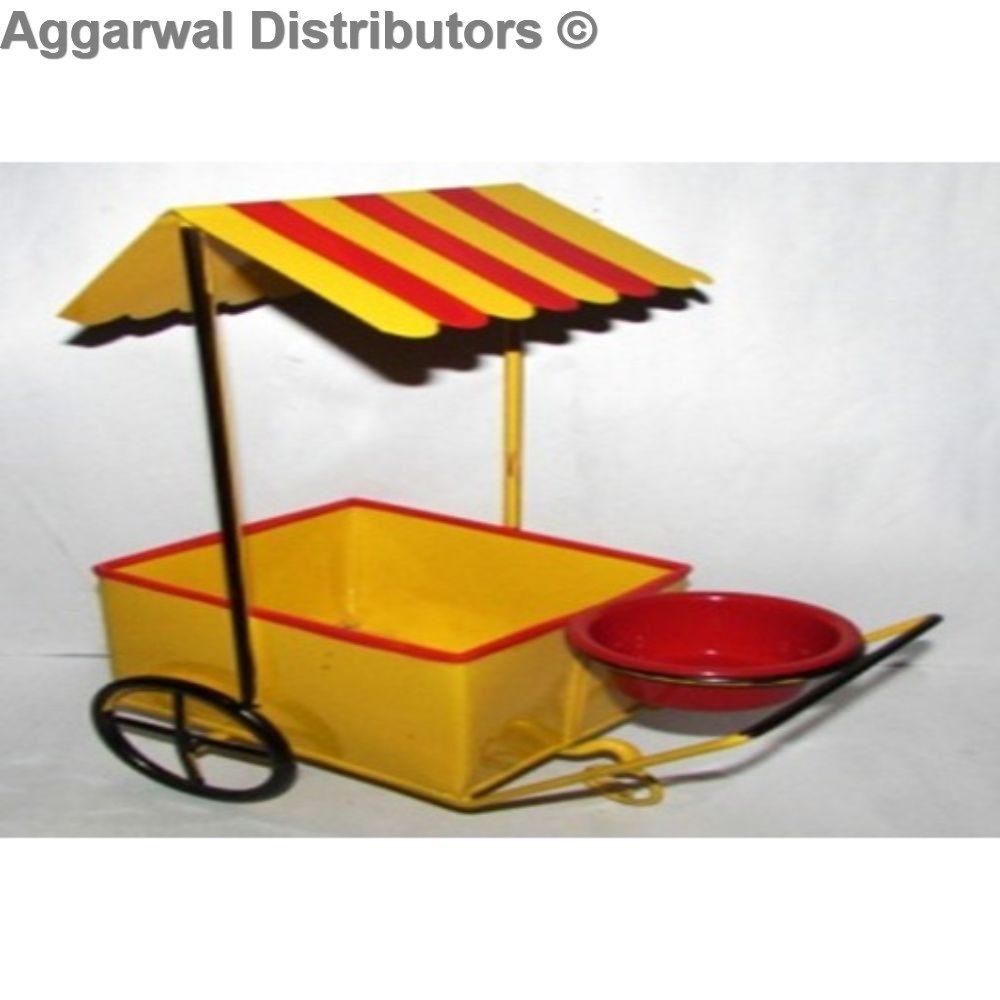 Metal Ice Cream Shape Serving Trolley 1