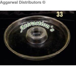Acrylic Platter- 33-13x13x2.5