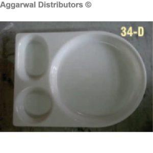 Acrylic Platter- 34 D-13x10x1.5
