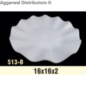 Acrylic Platter- 513-B-16x16x2