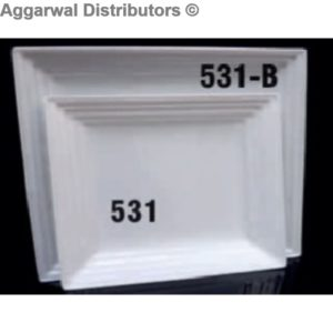Acrylic Platter- 531 B-15x15x1.5