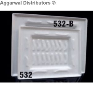 Acrylic Platter- 532-B-16x16x1.5