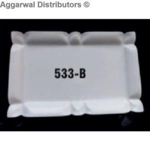 Acrylic Platter- 533 B-18x12x1.5