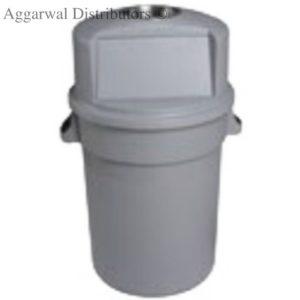 Cambro Nilkamal Plastic Round Waste Bin With Half Open Lid80