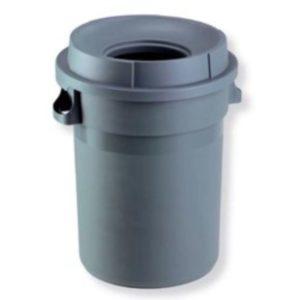 Cambro Nilkamal Plastic round bin 80 ltr with open LID