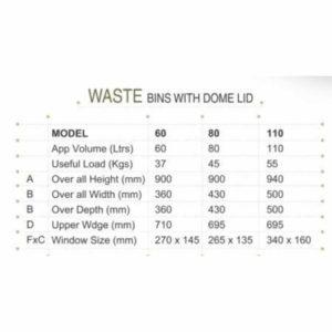Dustbin Specification
