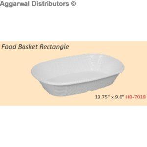 Glare Food Basket Rectangle
