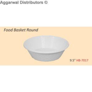 Glare Food Basket Round
