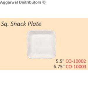Glare Sq. Snack Plate