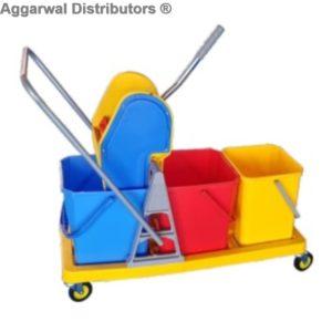 Ngm_Mop Wringer Trolley Tripple Bucket