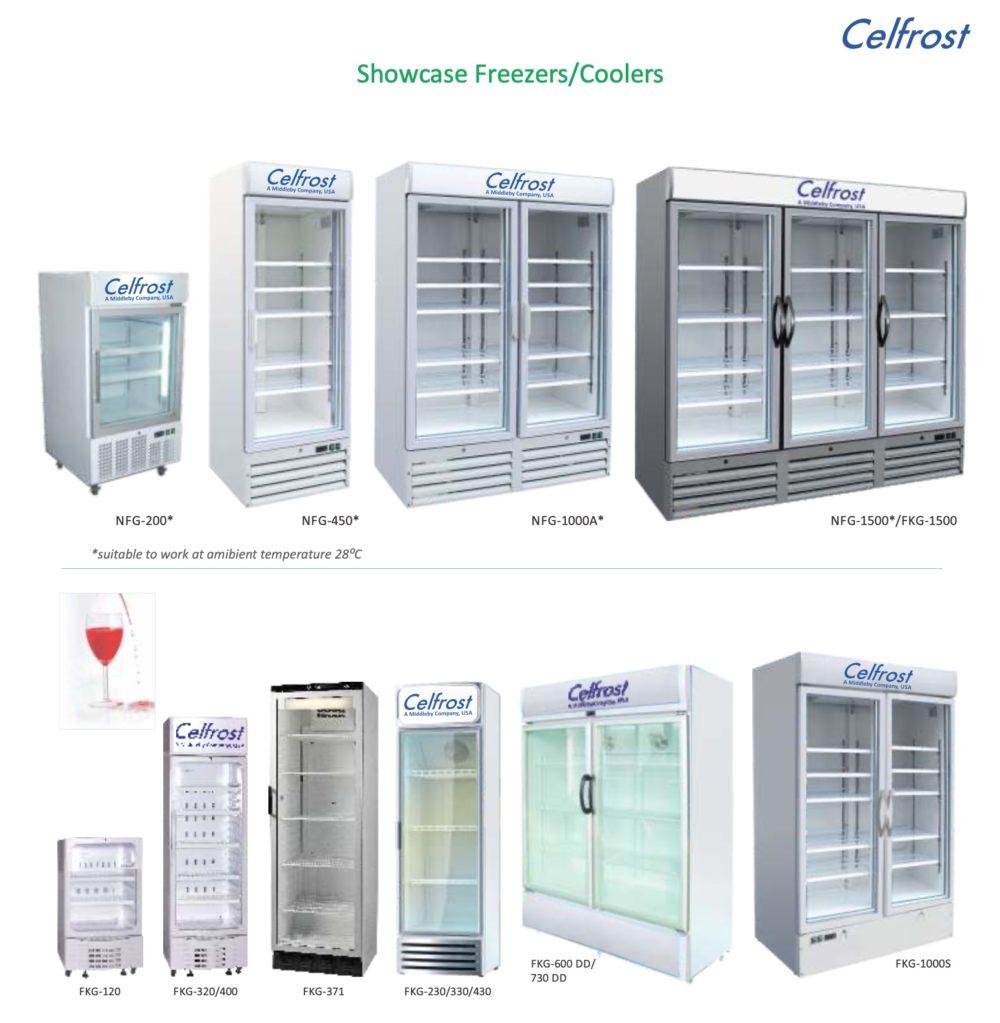 Celfrost Single Door Upright Showcase Cooler -FKG-320 ltr 1