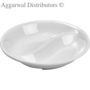 Servewell Round Twin Sauce Plate