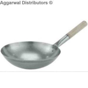 Chinese wok with wooden handle Indian18