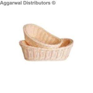 Polyrattan Basket Boat Shape Big