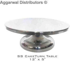 SS Cake Turn Table 12x5