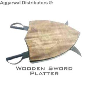 Wooden Sword Platter