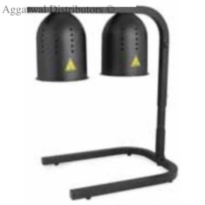 Food Warming Lamps (Black) Size: 425 × 350 × 780 mm Power: 250w × 2