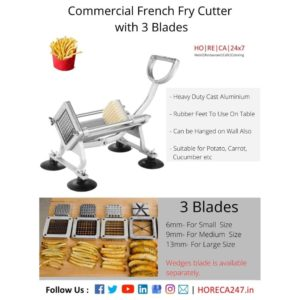 French fry cutter with 3 blade