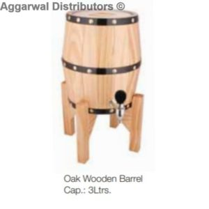 Oak Wooden Barrel Cap.: 3Ltrs.