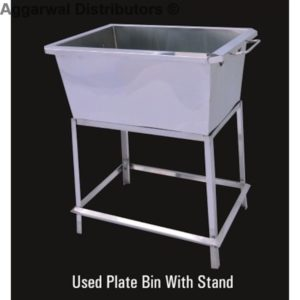Used Plate Bin with Stand