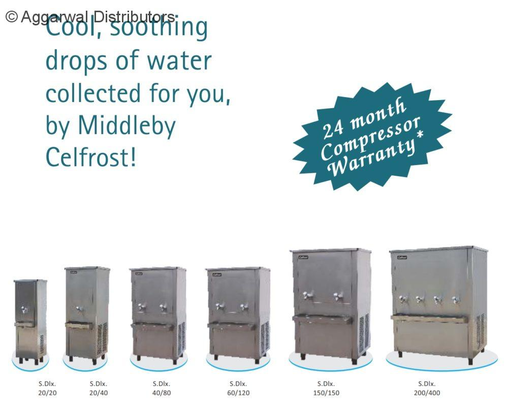 Celfrost Storage Water Coolers - 20 ltrs cooling/hr and 20 ltrs storage - 100 Glass/hr. 2
