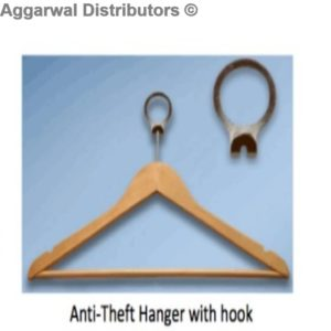 Wooden Anti theft Hanger with hook