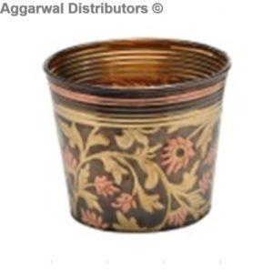 coloured brass planter