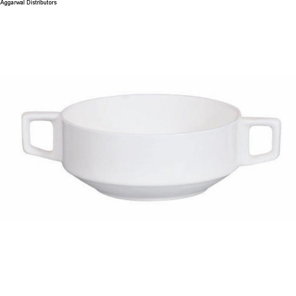 Clay Craft Soup Bowl 2 Handle 1