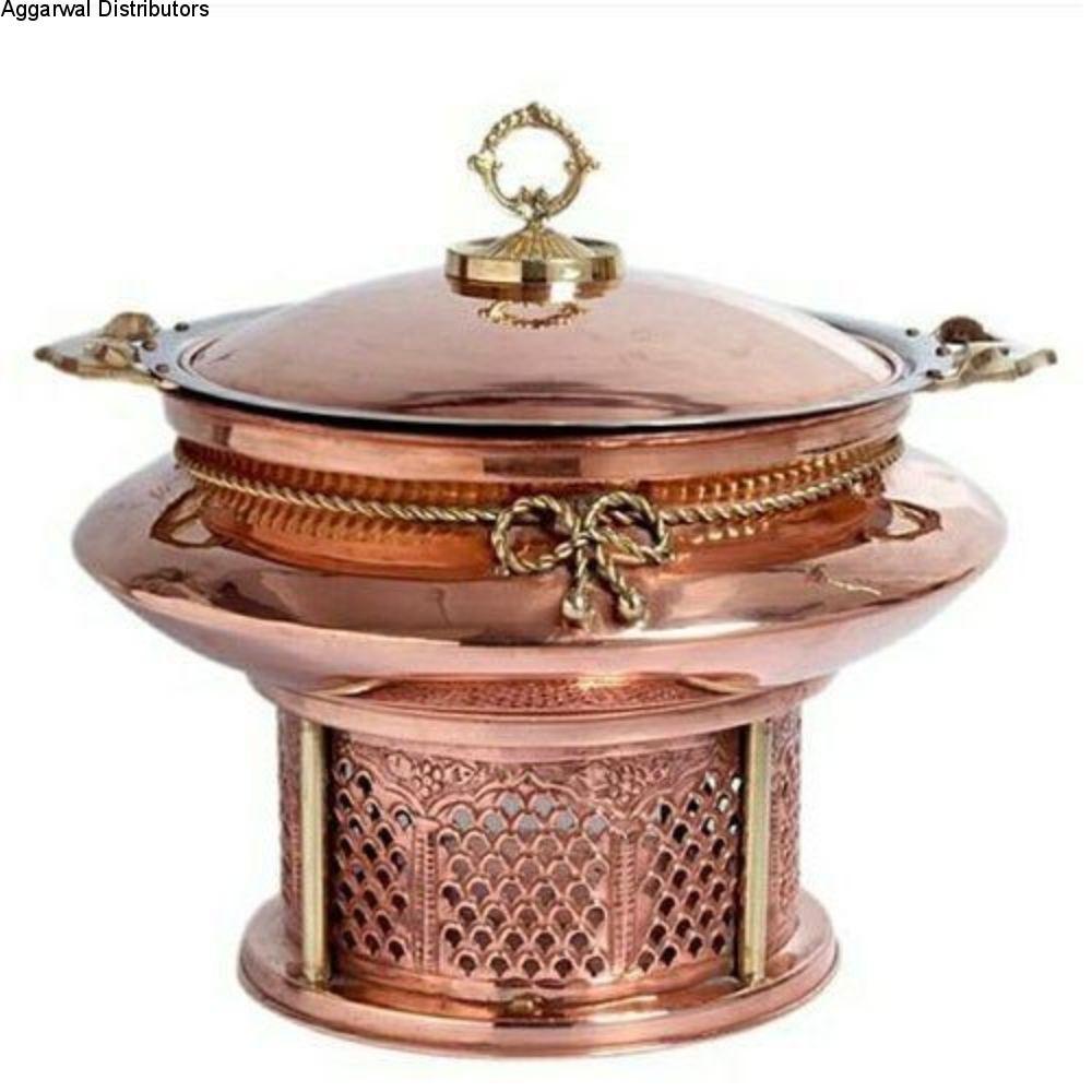 La Coppera Round Copper Chafing Dish Majestic LC-152-4 ltr 1