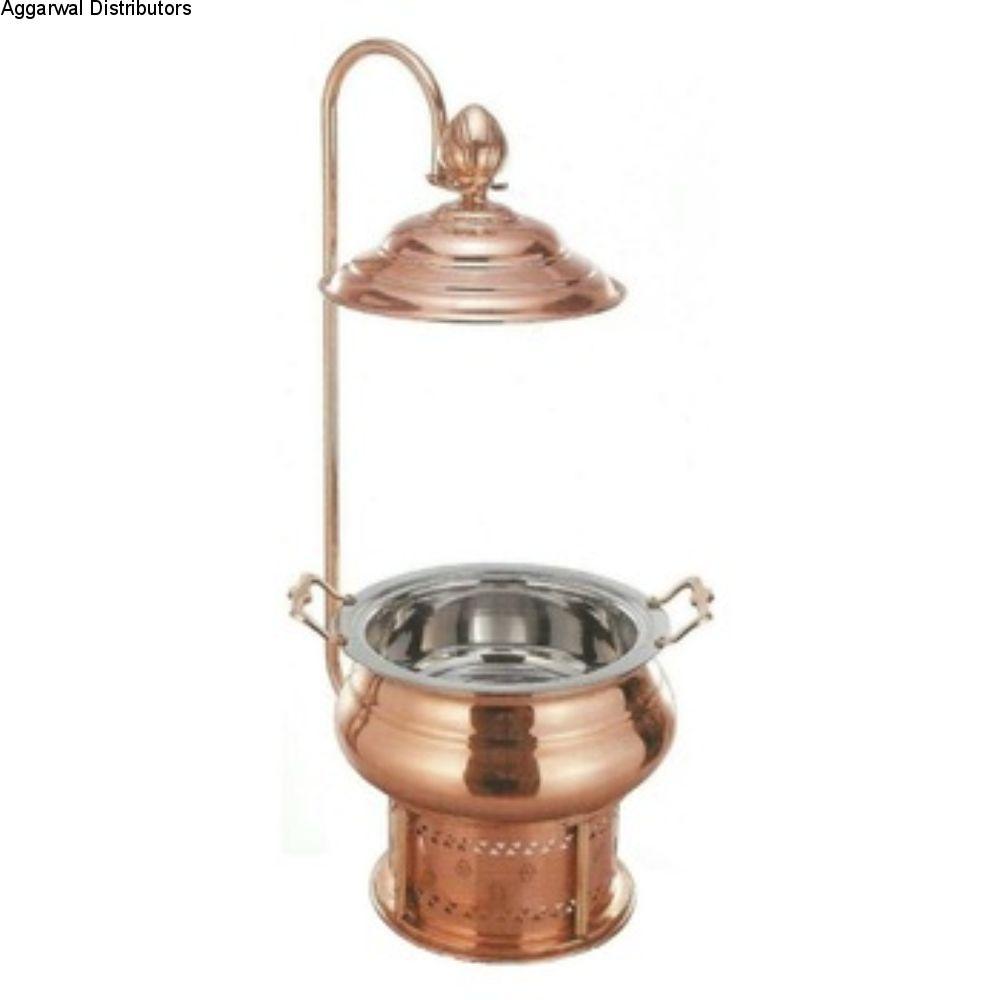 La Coppera Round Copper Chafing Dish Regal-6ltr LC-150 1
