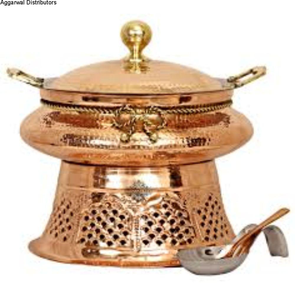 La Coppera Round Copper Chafing Dish Aristocrat LC-151-4 ltr 1