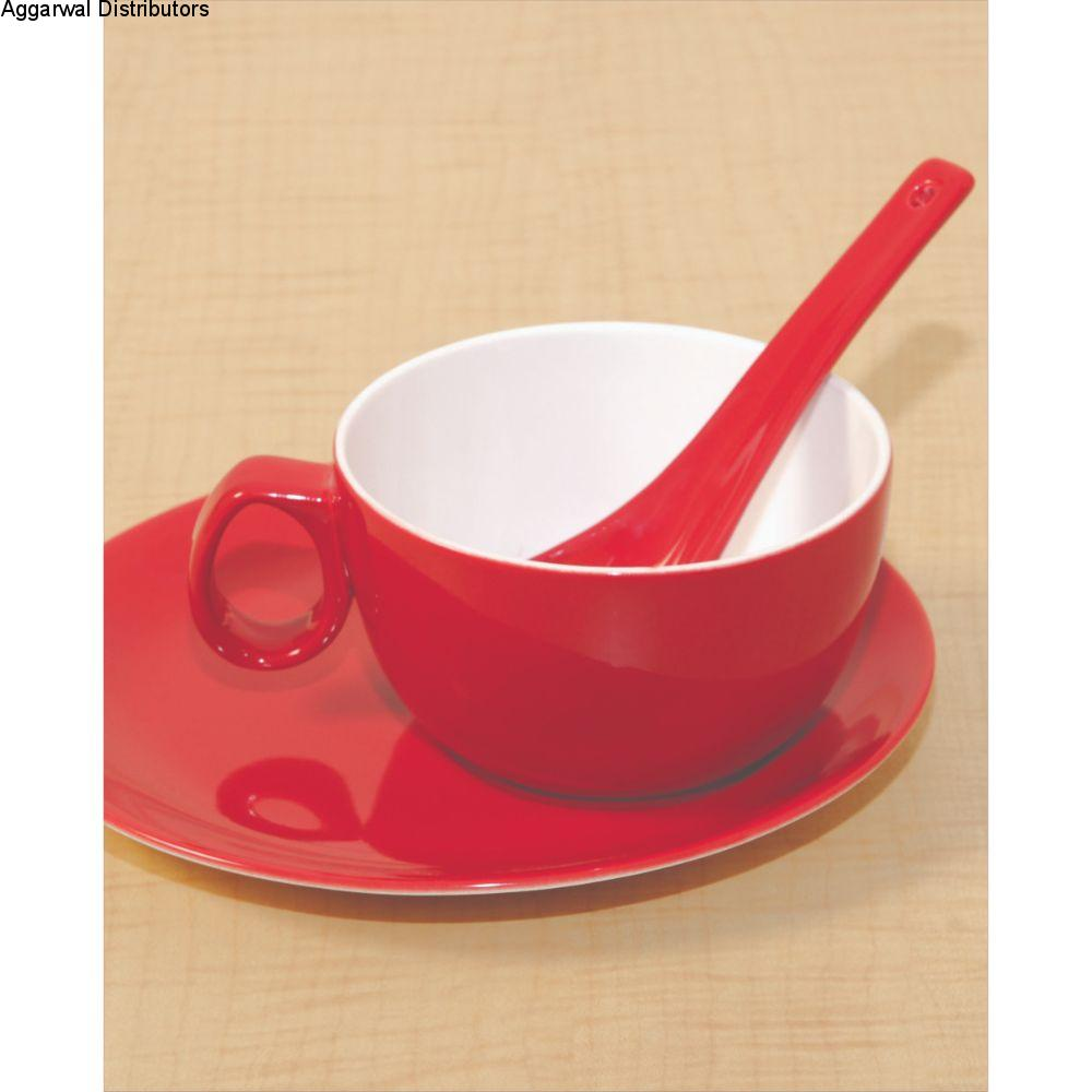 Clay Craft Soup And Snack Set ( White ) 3 Pcs Set 1