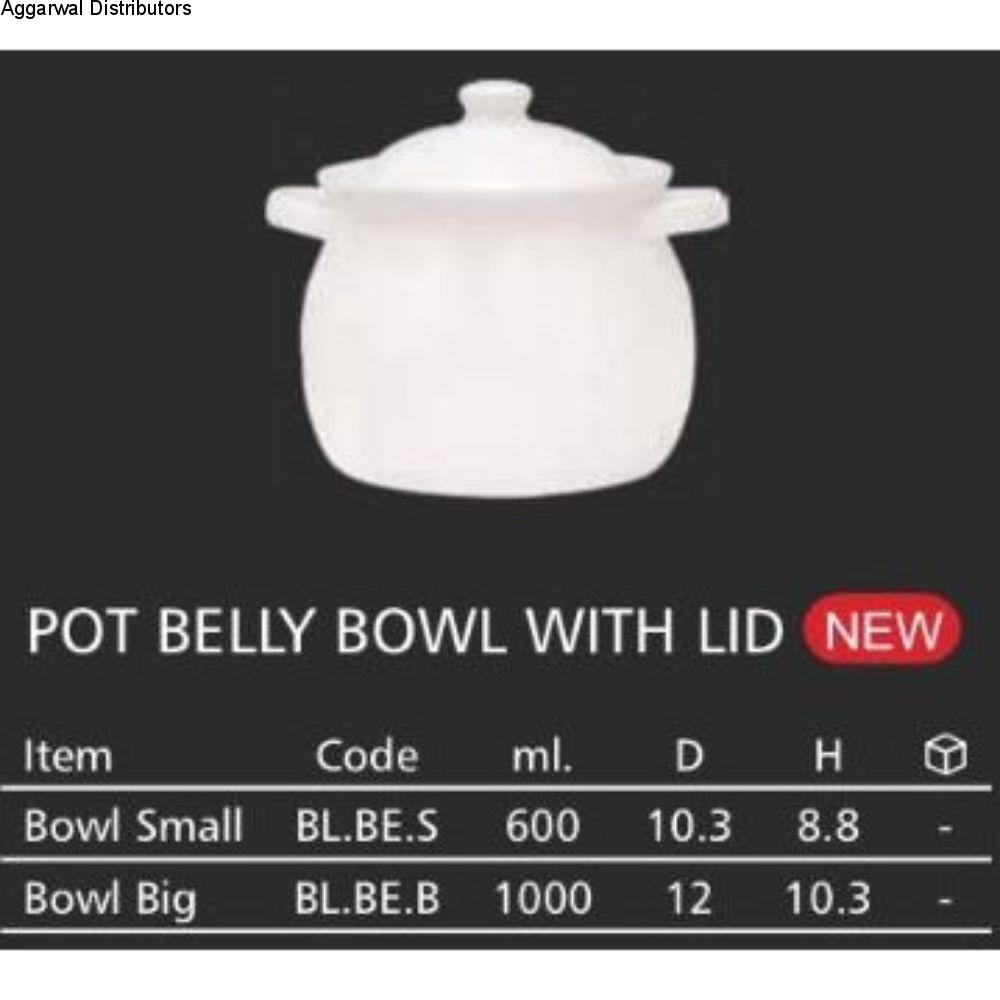 Clay Craft Pot Belly Bowl With Lid 1