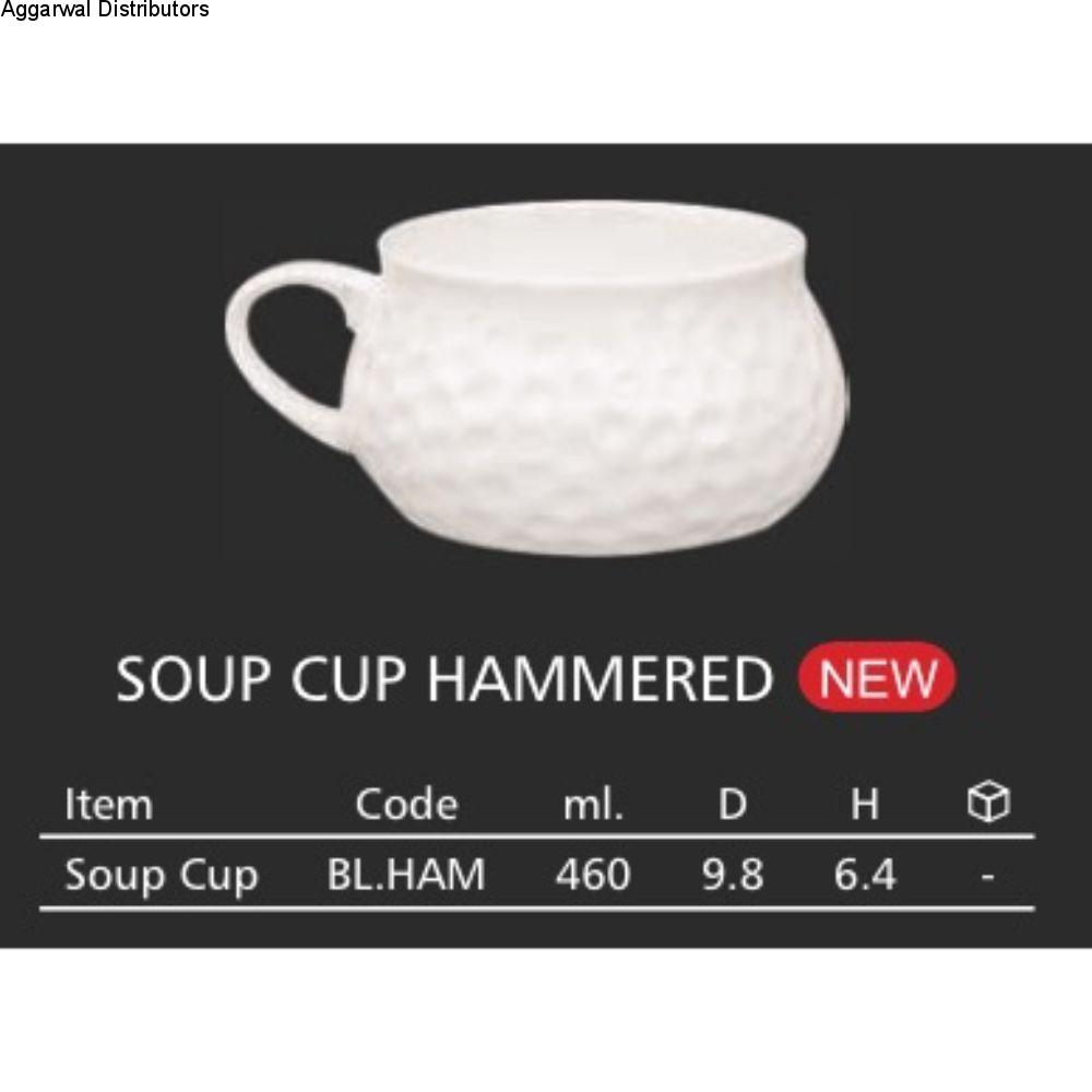 Clay Craft Soup Cup Hammered 1
