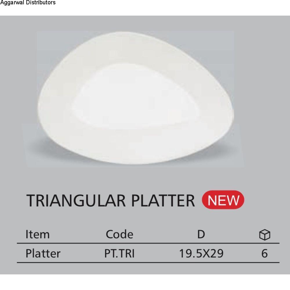 Clay Craft Triangular Platter 19.5 By 29 Cm 1