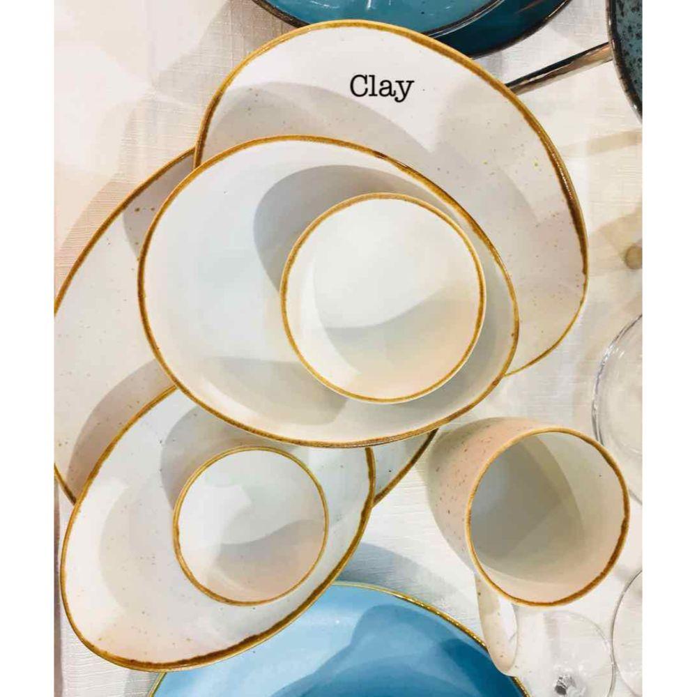 Devnow Coloured Crockery Oval Shape Colours (Diff Colours) 7