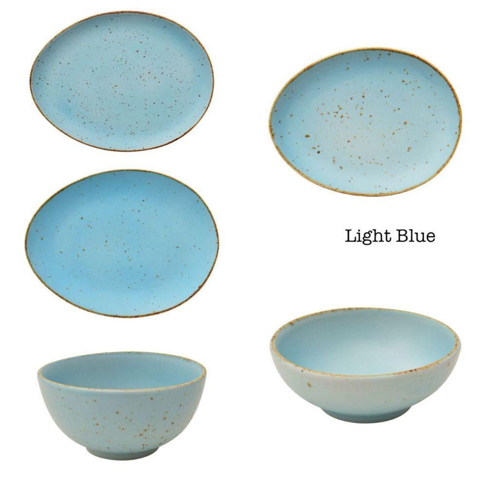 Devnow Coloured Crockery Oval Shape Colours (Diff Colours) 4