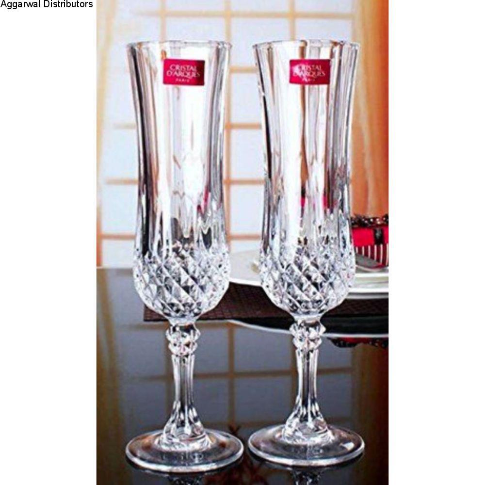 Cristal D'Arques 140ml Longchamp Flute 6 Pcs Set G5189 L7553 1