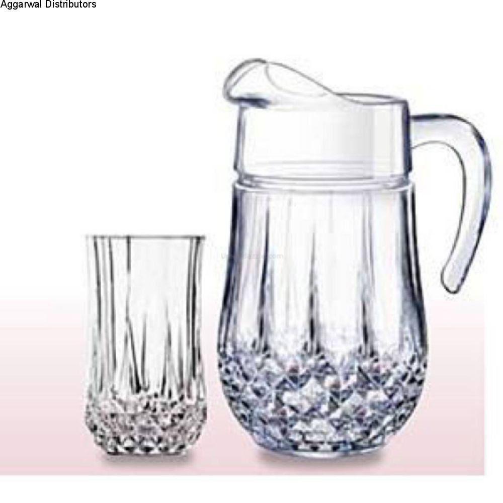 Cristal D'Arques Longchamp 7 Pcs Set G5226 (Jug 1.5L + 6 Tumbler *(280ml) 1