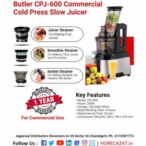 Butler CPJ-600 Commercial Cold Press Slow Juicer