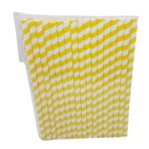 Paper Straw yellow