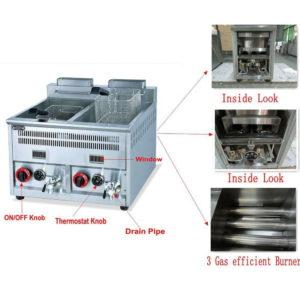 Gas fryer 16 L x2 Feature 1