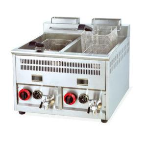 Gas fryer 16L x2