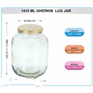 1415 ML GHERKIN LUG JAR
