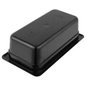Cambro 34CW110 Camwear Black Polycarbonate Food Pan - 4 Deep