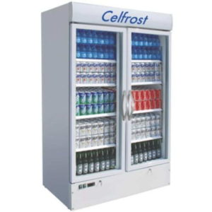 Celfrost Two Door Upright Showcase Cooler FKG 1000 S