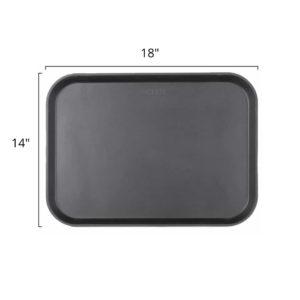 Fiber Anti Skid Tray - Rectangular 14x18 Size Chart